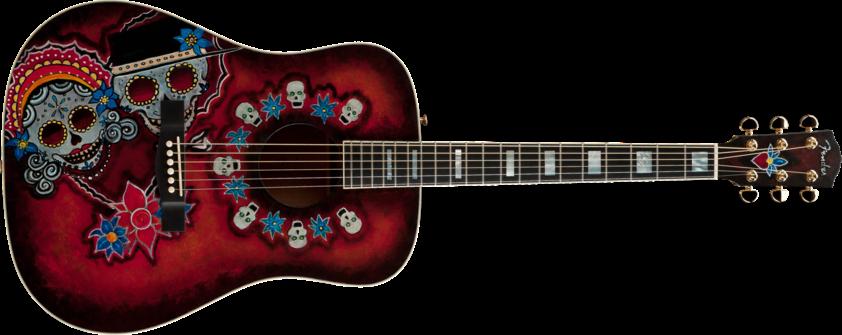 Guitarra con calaveritas