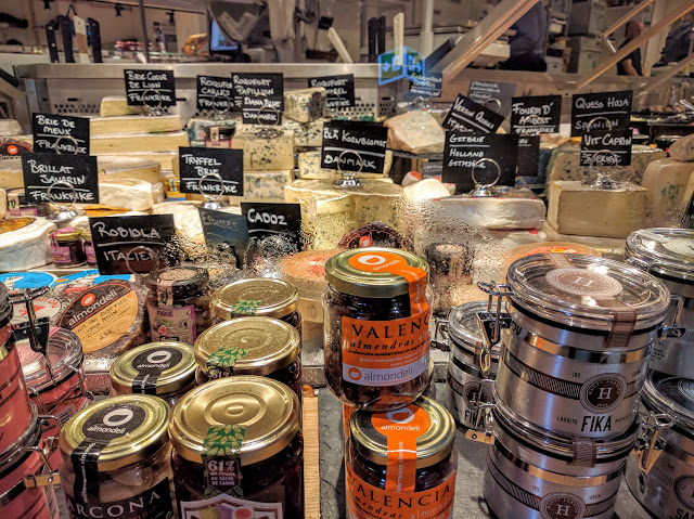 cheese and other Swedish foods at Stockholm's Östermalms Saluhall
