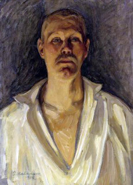 Pekka Halonen, Self Portrait, Portraits of Painters, Fine arts, Portraits of painters blog, Paintings of Pekka Halonen, Painter Pekka Halonen