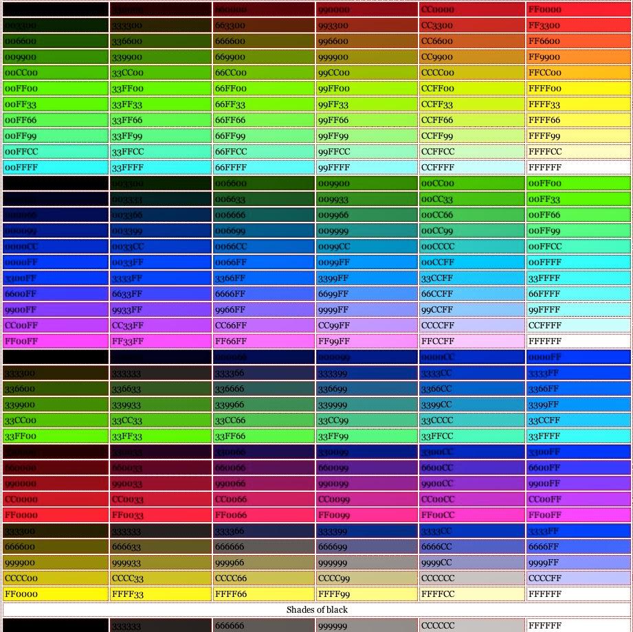участии коды цветов с картинками найти фото