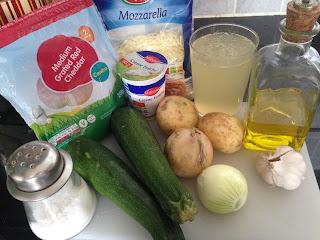 Crema de Calabacín y Macarrones con calabacín, ingredientes
