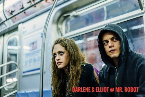 ilustrasi: Darlene dan Elliot dalam Mr. Robot