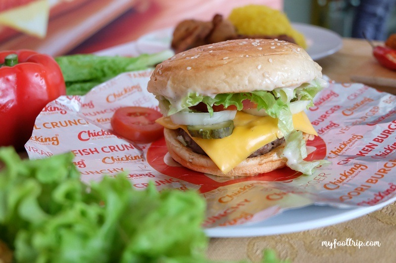 menu burger di chicking indonesia