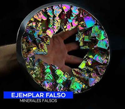 Geoda falsa de bismuto artificial - hermosa pero falsa | foro de minerales