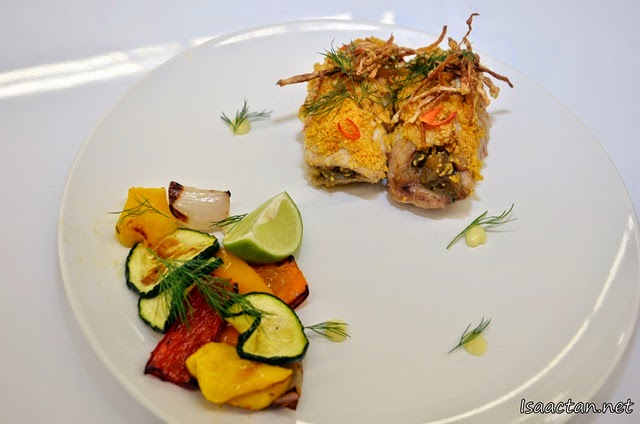 Fish Roulade with Grilled Vegetables