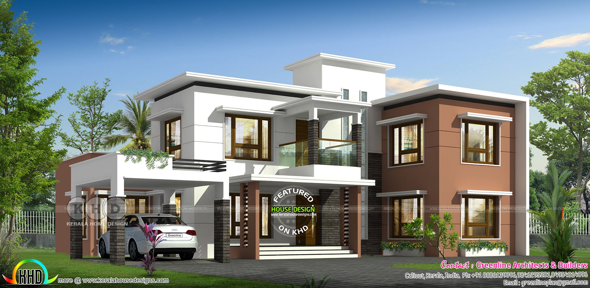 3394 sq ft flat roof contemporary house