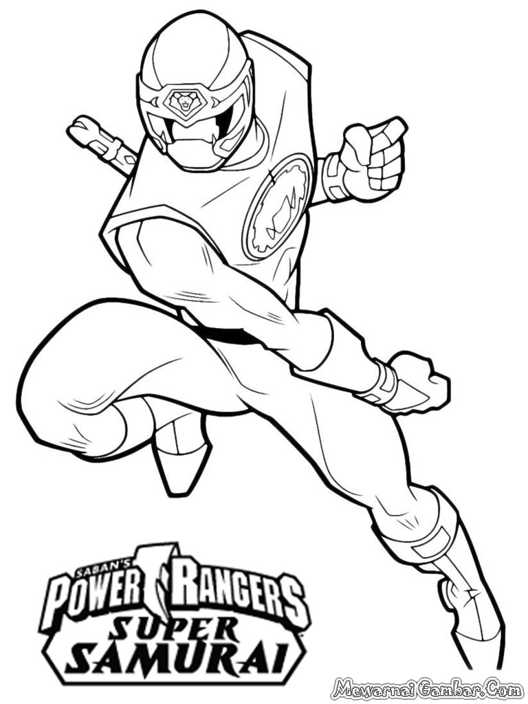 Free power rangers posters coloring pages