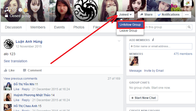 How To Unfollow Groups On Facebook step 3