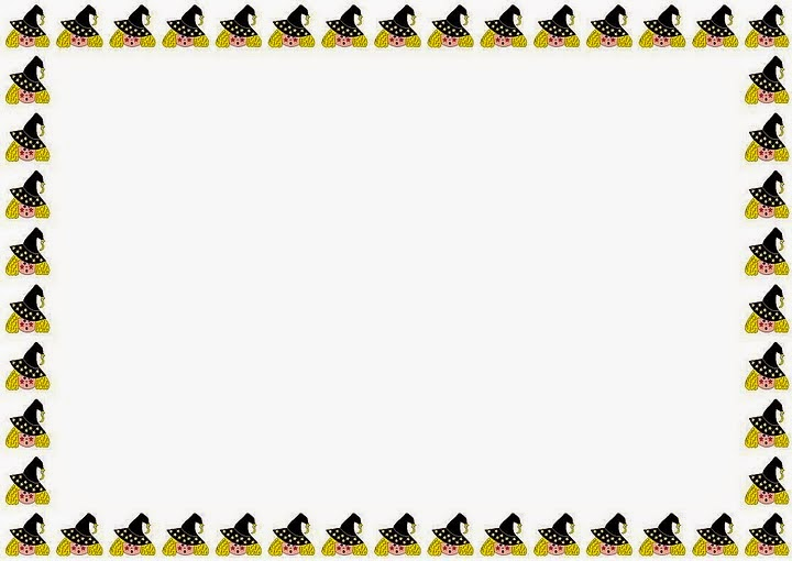 It is a graphic of Free Printable Halloween Borders for summer