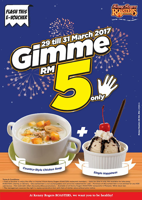 Kenny Rogers ROASTERS Malaysia E Voucher Soup Ice Cream Offer