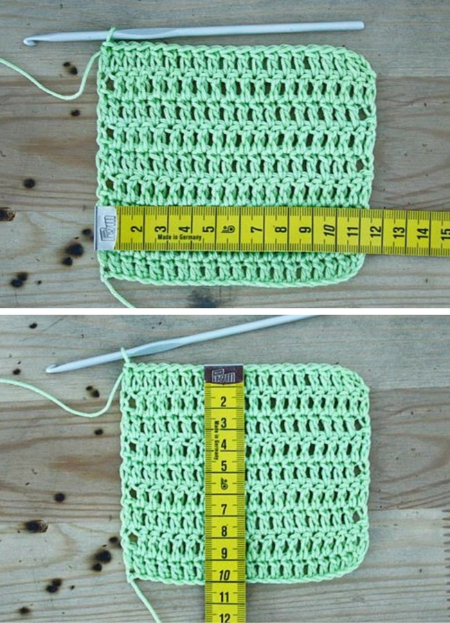 Crochet: how you should swatch | Happy in Red