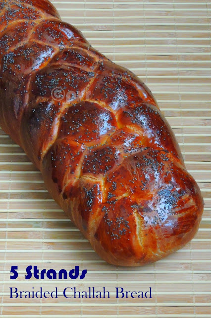 Challah bread, 5strands challah bread