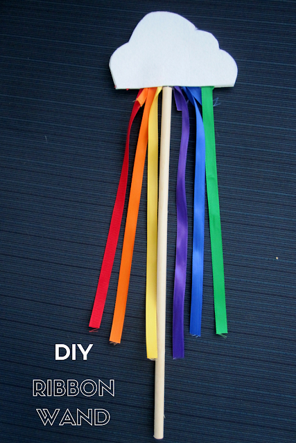DIY Rainbow Wand Final Result