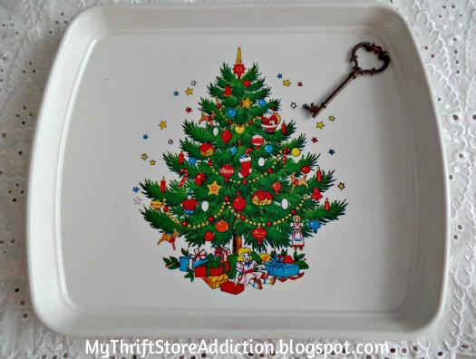 Vintage Christmas tray