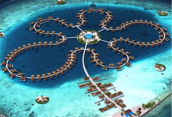 """""""Bông hoa đại dương"""" đẹp mê hồn tại Maldives"""