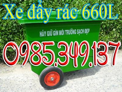 xe thu gom rác 660 lít