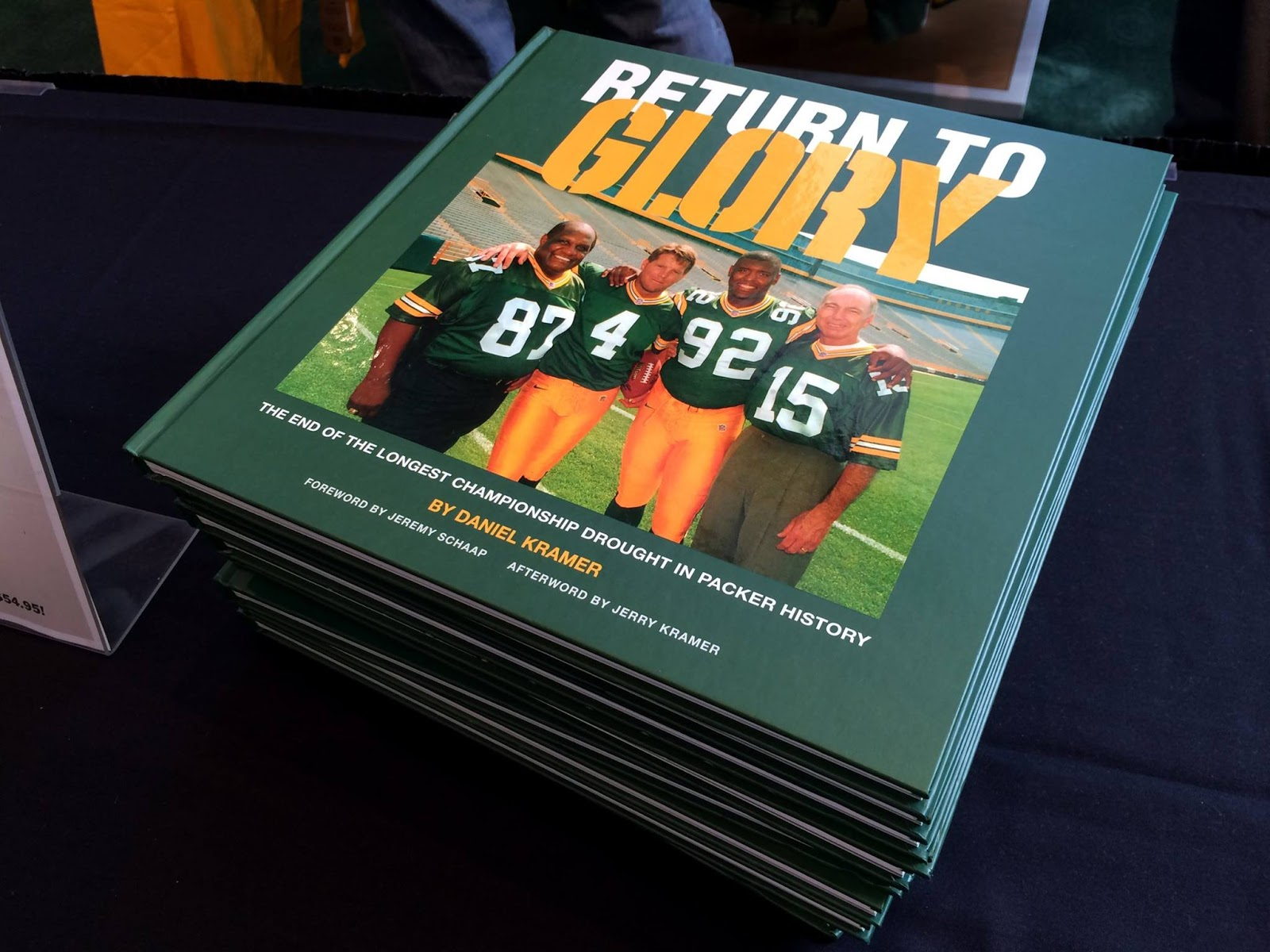 """Return to Glory"" has just been published by Daniel Kramer who is the son of Lombardi era Packers Hall of Fame G Jerry Kramer This ""coffee table"" type"