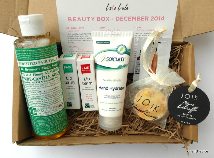 One Little Vice UK Beauty Blog: Love Lula December Beauty Box Review