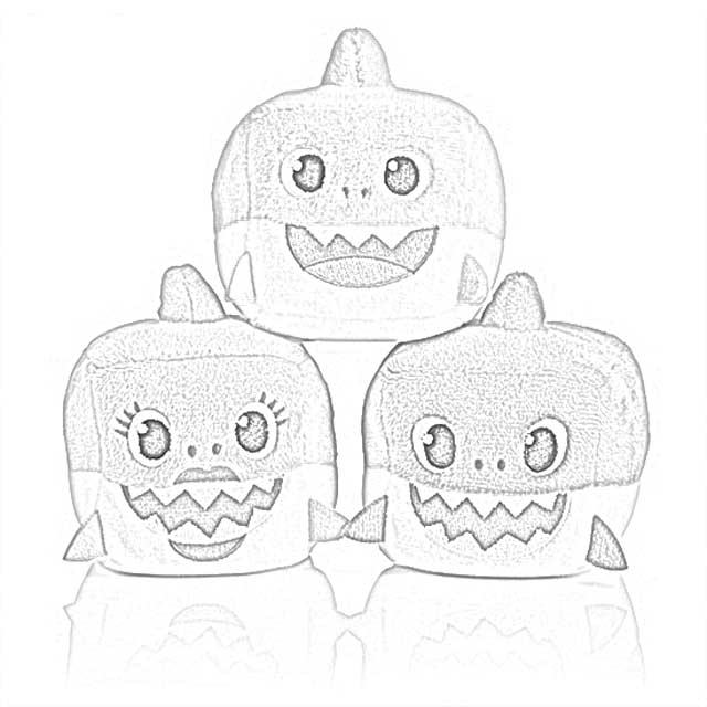 Coloring Pages: Pinkfong Baby Shark Song Doll Coloring ...
