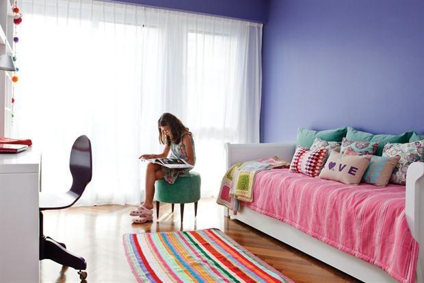 alfombra rayas crochet - Ideas para un cuarto de una preadolescente…