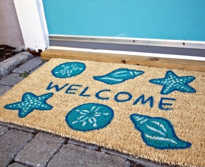 Nautical Beach Doormats That Bring Color To Your Step