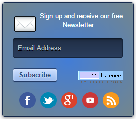 An interesting Email Subscription Form widget for Blogger