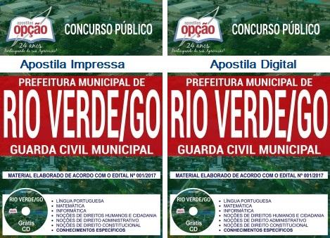 Apostila Guarda Civil Municipal de Rio Verde Goiás - Concurso GCMRV 2018