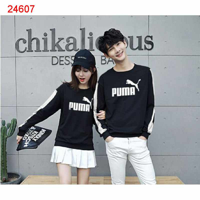 Jual Sweater Couple Sweater Puma Stripe Black - 24607