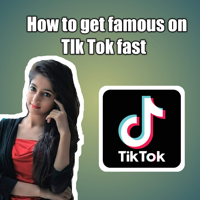 How to get famous on tik tok fast ?