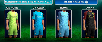 Kits Manchester City GDB 2016-2017 Pes 2013 by DEADPOOL