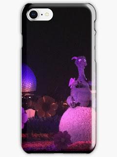 Figment Topiary Purple Night Epcot Future World Phone Case