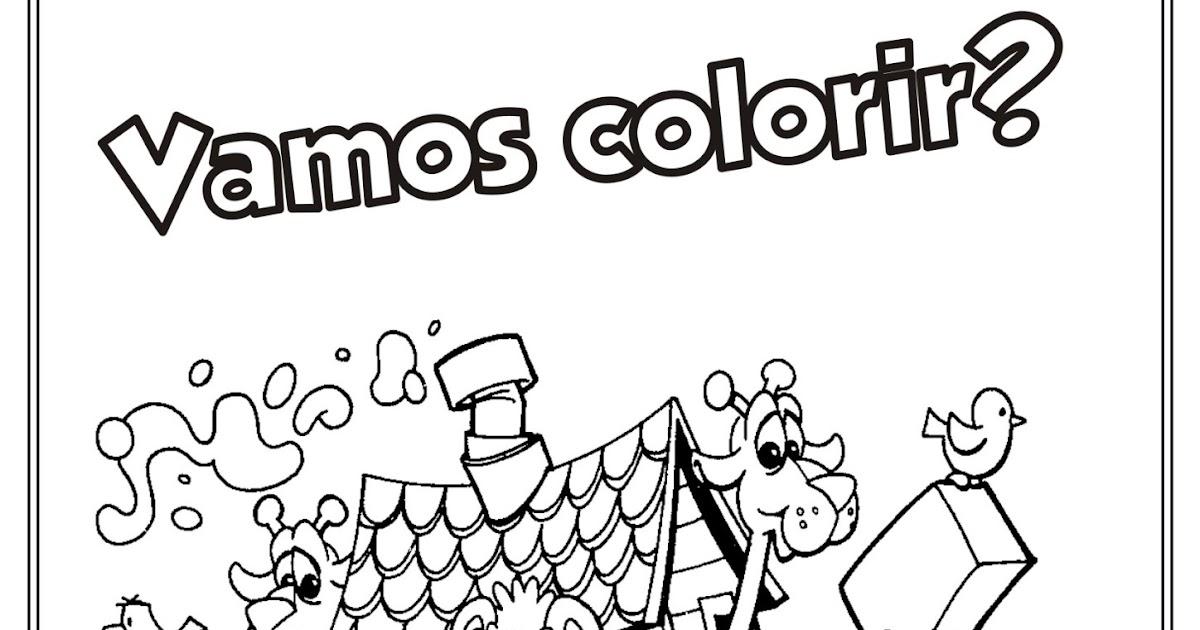 Arca De Nóe Para Colorir: Desenho Bíblico Para Colorir