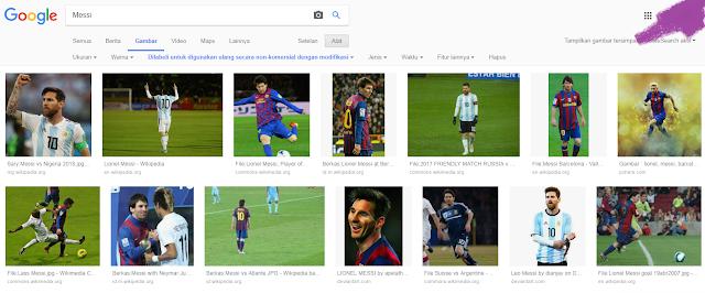 Hasil Filter Gambar di Google