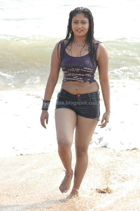 Wet Amrutha Valli Navel In BeachPhoto Gallery