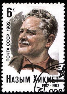 Ναζίμ Χικμέτ (γραμματόσημο της Σοβιετικής Ένωσης, 1982)