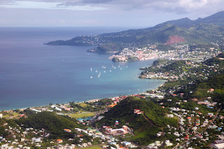 Aerial photo of the Island of Grenada