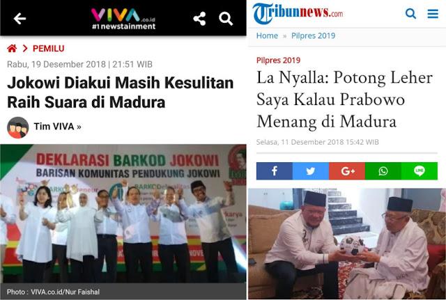 Jokowi Diakui Masih Kesulitan Raih Suara di Madura, Warganet Singgung La Nyalla