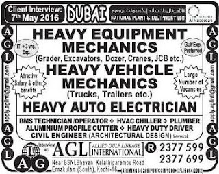National plant and equipment llc Dubai jobs