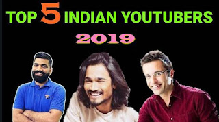 top 5 youtubers in india
