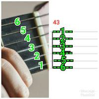 String pada tab gitar