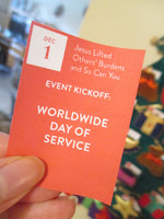 Dec 1: Jesus Lifted Others' Burdens and So Can You - Worldwide Day of Service
