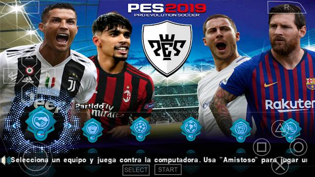 SAIU!! PES 2019 PPSSPP + CÂMERA DE PS4 FACES REALISTAS T/A DOWNLOAD