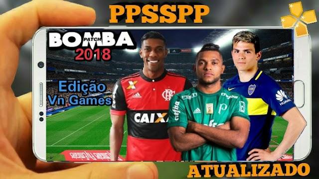 PES 2018 NOVO PATCH BRASILEIRÃO ATUALIZADO PPSSPP,ANDROID,PSP