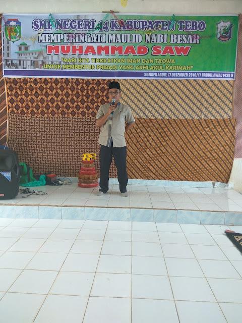 Kegiatan Isra' Mi'raj Nabi Muhammad SAW di SMPN 44 Kab. Tebo