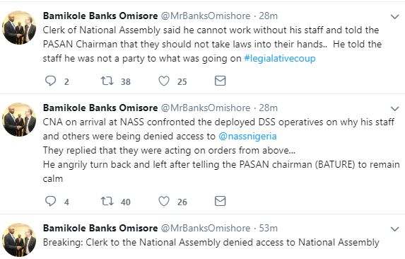Clerk to the National Assembly locked out of Assembly complex