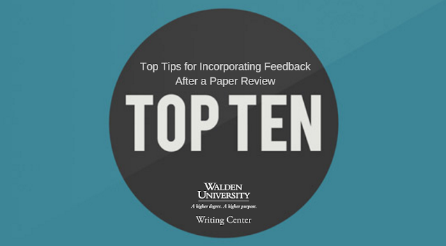 A Text and Graphic intro slide for this blog post including the title of the post and the Walden U logo