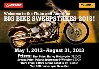 Welcome to the Fluke and Ambrose Big BIke Sweepstakes 2013