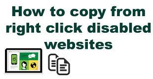 disabl right click