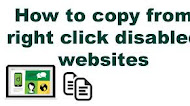 How to enable right click on websites that have disabled it