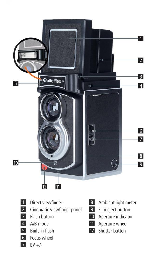 Органы управления Rolleiflex Instant Kamera